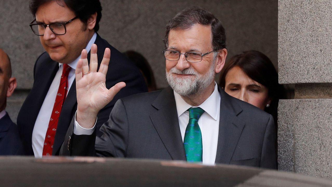 Así es el nuevo Gobierno de Feijoo.De izquierda a derecha, Irene Garrido, José Ramón Lete, Javier Dorado y Santiago Villanueva