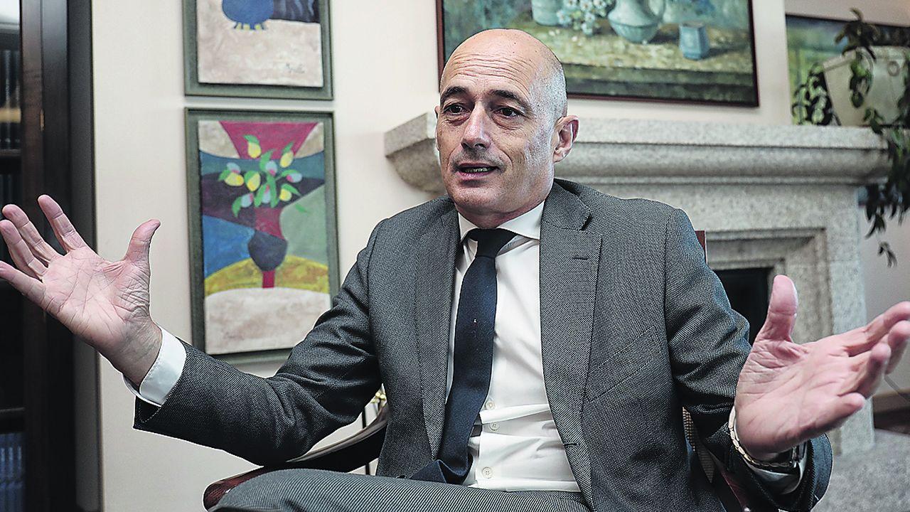 La dirección de En Marea releva a la empresa que custodiaba el censo electoral.Antón Arias, en enero, antes de la rueda de prensa en la que presentaría su dimisión