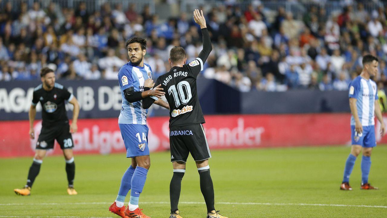 252 - Málaga-Celta (2-1) de Primera el 29 de octubre del 2017