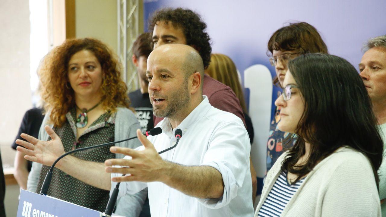 Villares, durante la rueda de prensa en la que anunció su pase al grupo mixto