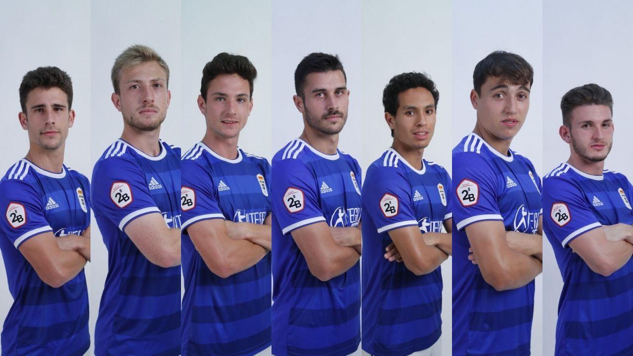 De izquierda a derecha: Jimmy, Cortina, Borja, Lucas, Steven, Ugarte y Viti