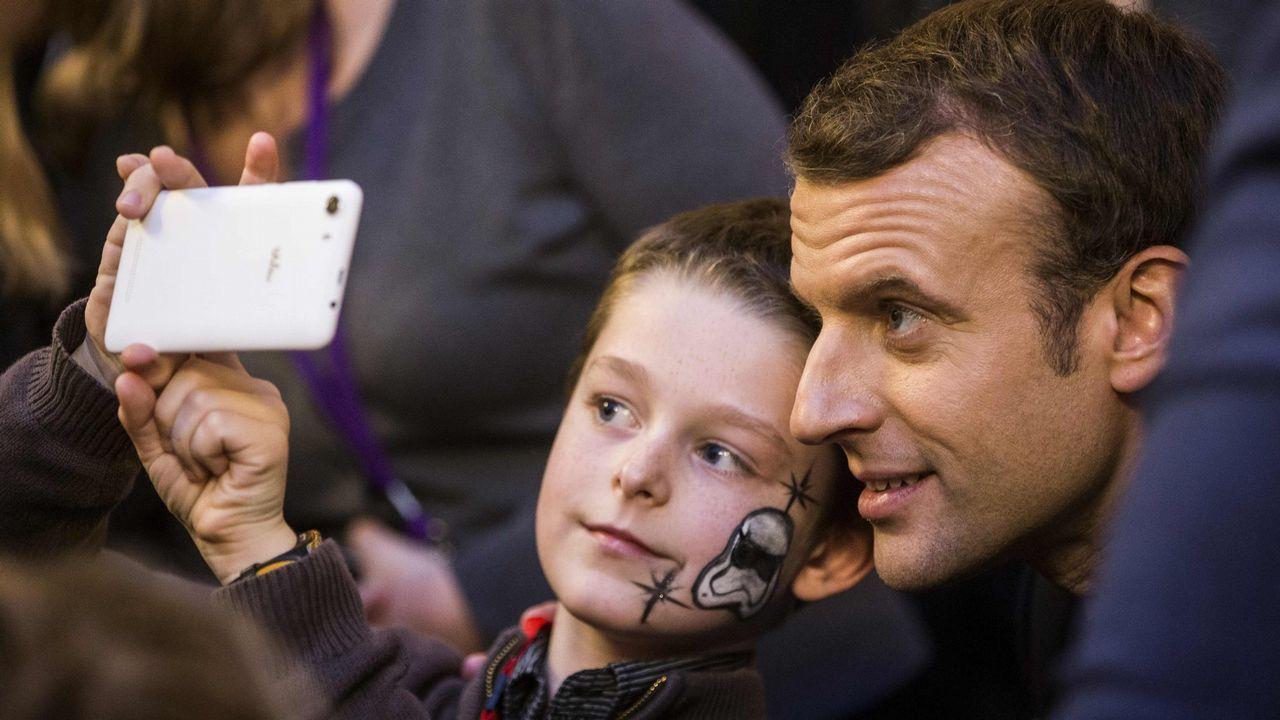 Selfi con Macron