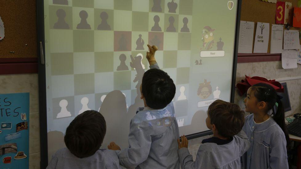 Aprendizaje idílico a un paso de Vigo.Alumnos de primero de ESO de Maristas