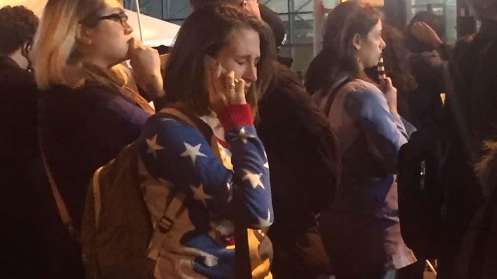 Lágrimas de los seguidores demócratas en Nueva York