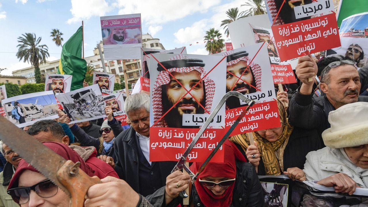 Vídeo de Podemos sobre Alcoa.Pancartas y sierras, en las protestas contra Salman