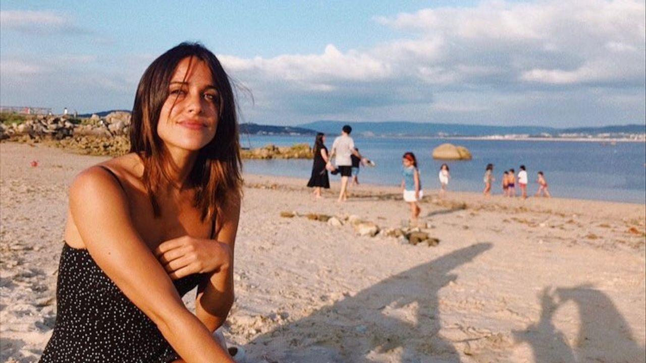 .La actriz Macarena García en San Vicente do Mar
