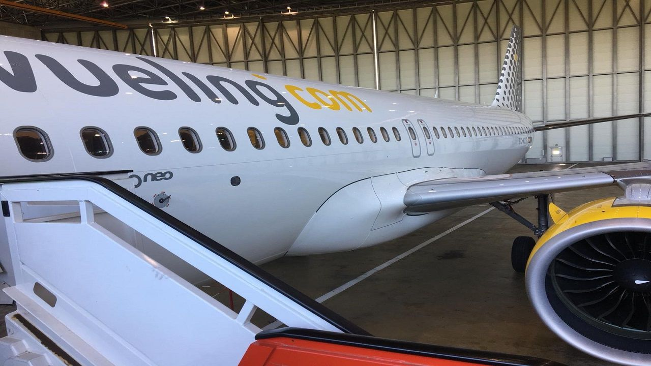 Air Europa, compañía, aerolínea.Un avión de la compañía Vueling
