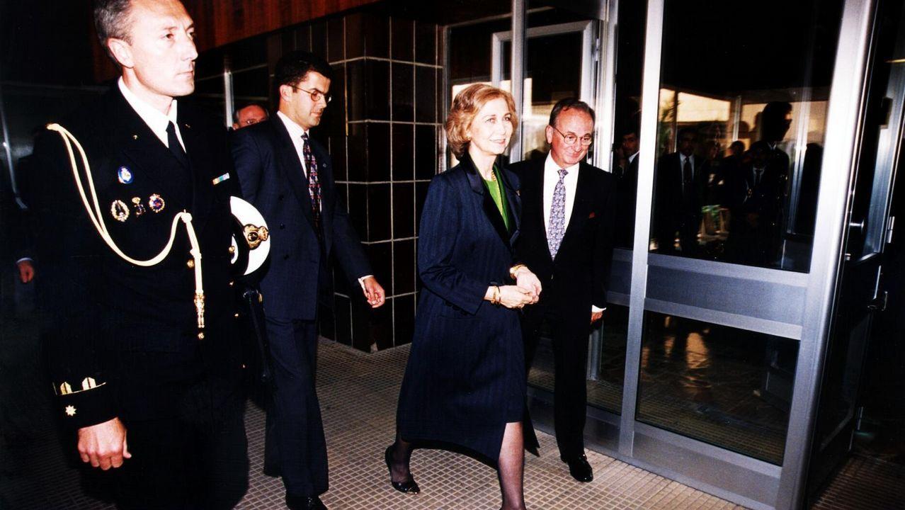 En 1998 en su visita al Hospital de Ourense