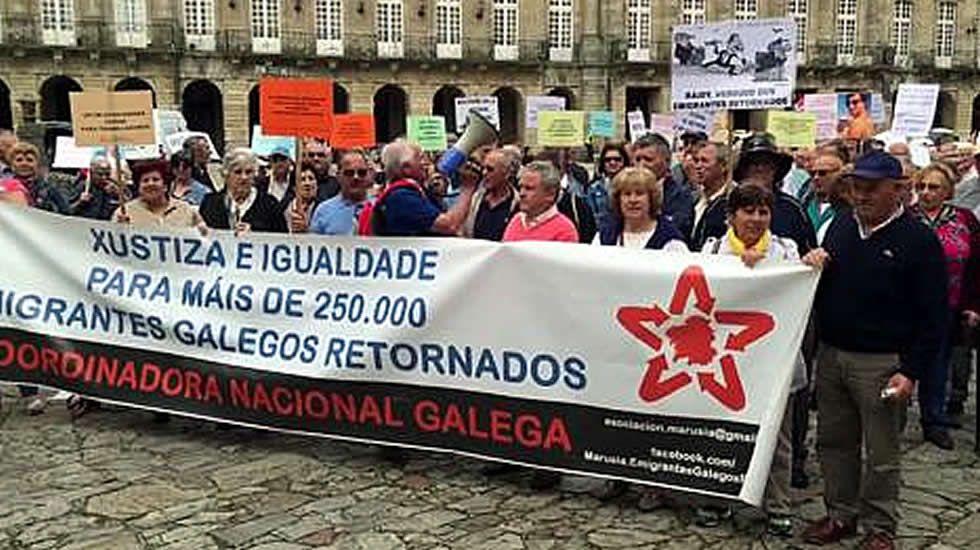Manifestación emigrantes retornados