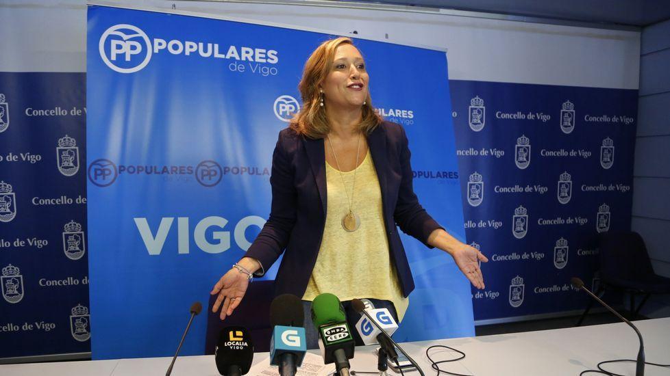 Congreso para elegir la nuevo líder del PP de Vigo.Olga Louzao, durante un pleno en el concello de Lugo