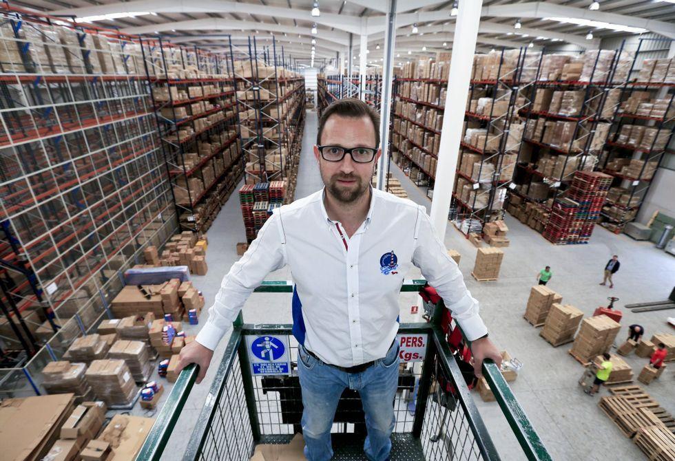 .Jesús Manuel Graña Gómez en las instalaciones que ya tiene abiertas en Palas de Rei.
