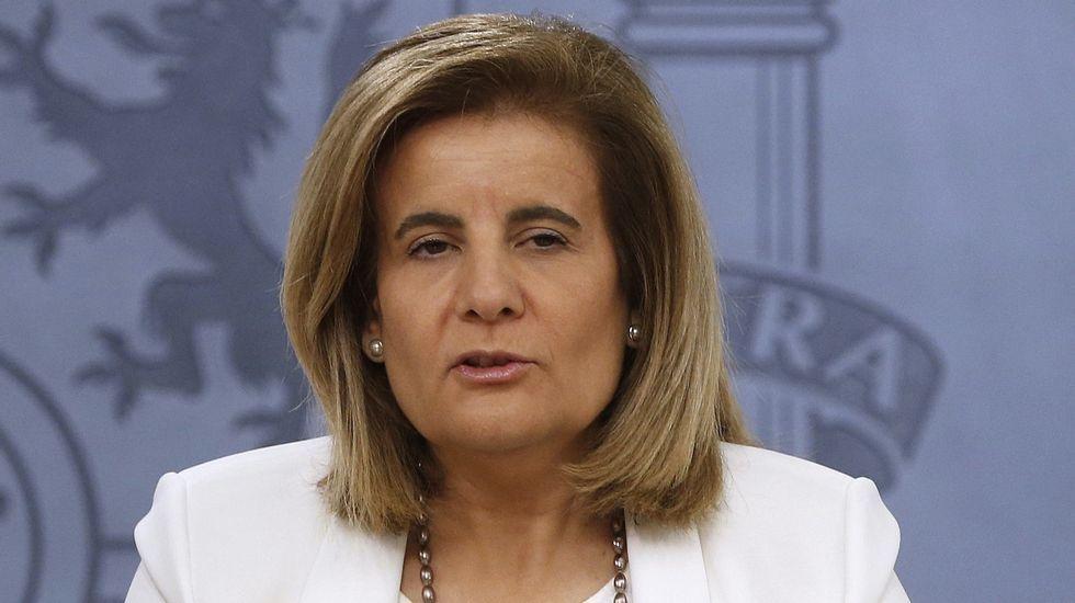 Llegada entre insultos de Bárcenas, Correa y «El Bigotes».Fátima Báñez