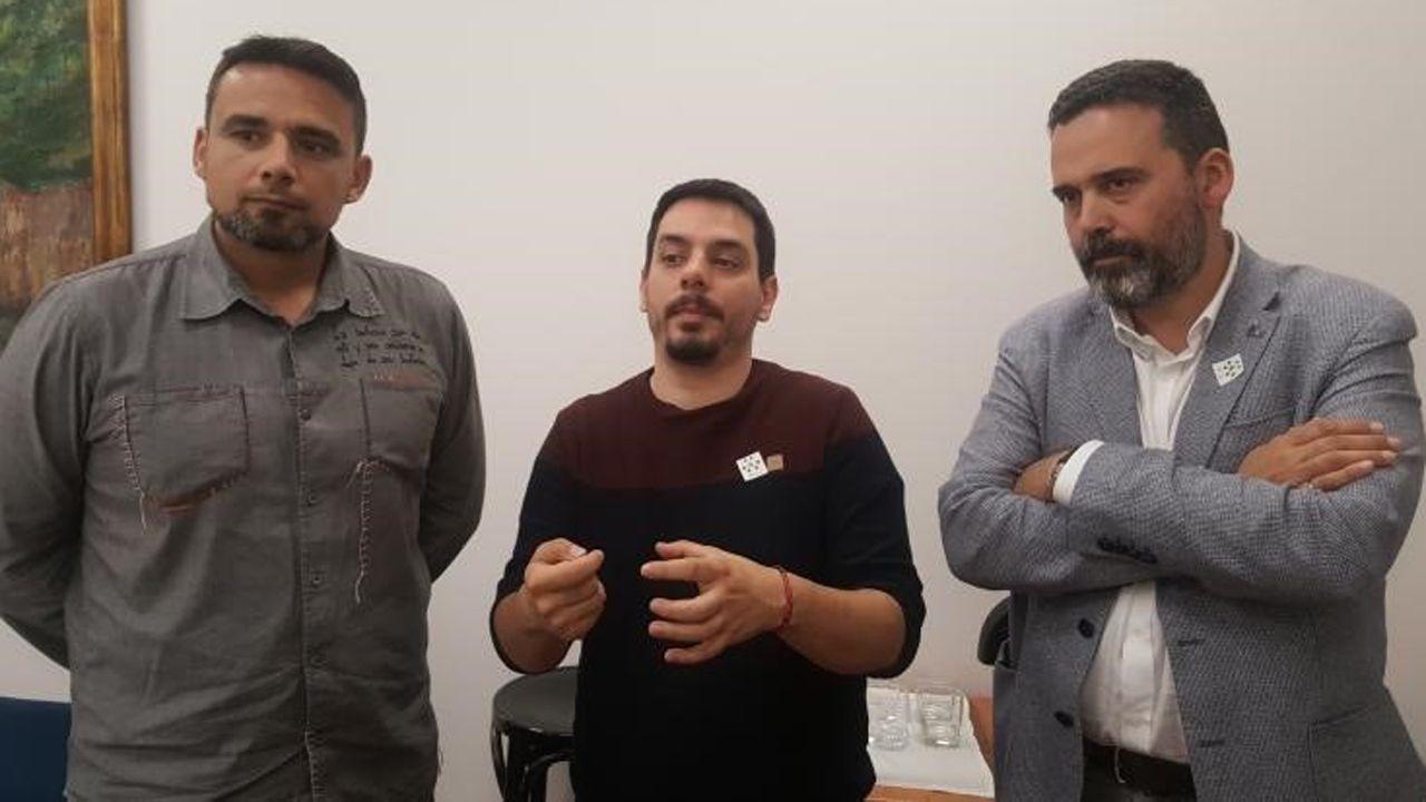 Somos, PSOE e IU se ponen deberes para lo que queda de mandato.Ignacio Fernández Del Páramo (Somos), Ricardo Fernández (PSOE) e Iván Álvarez (IU)