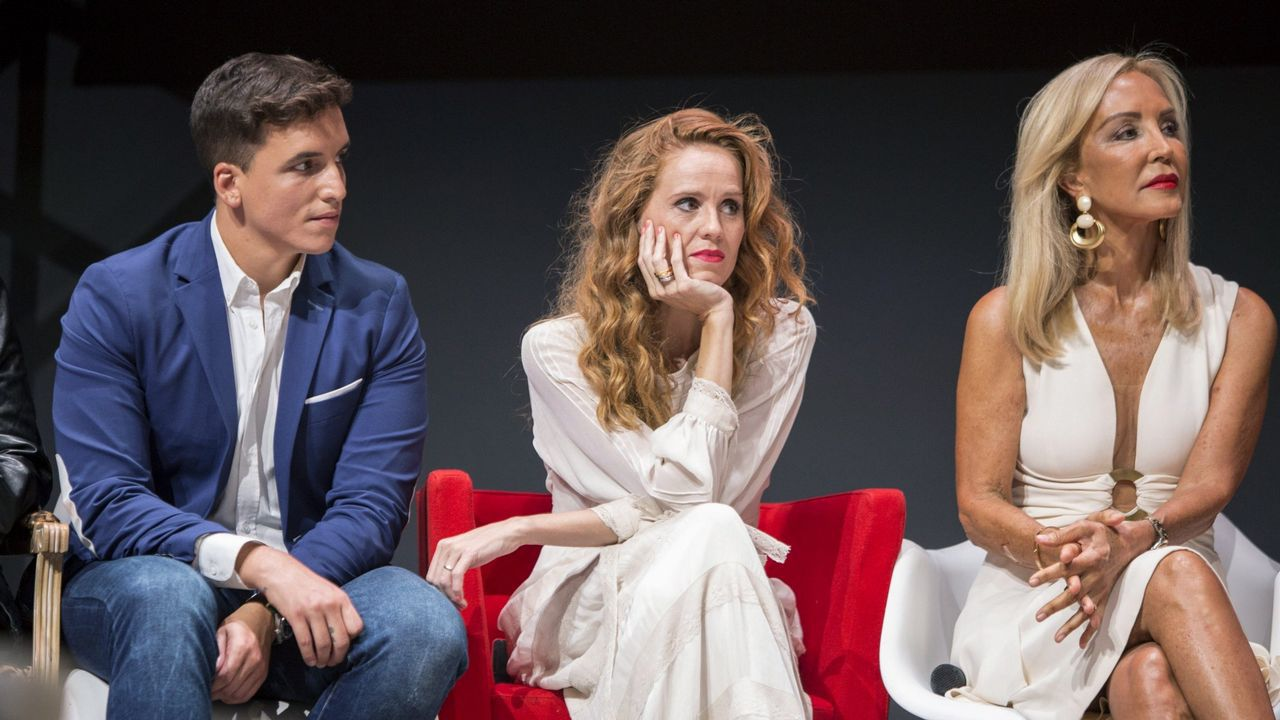 Xuso Jones, María Castro y Carmen Lomana