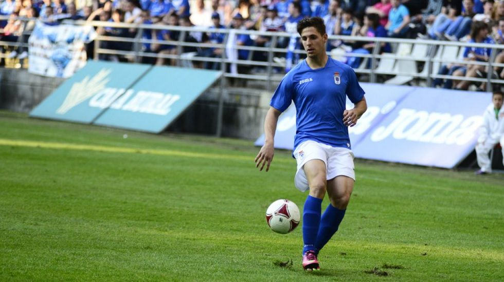 Fran Sol Real Oviedo Horizontal.Fran Sol durante un encuentro con el Real Oviedo