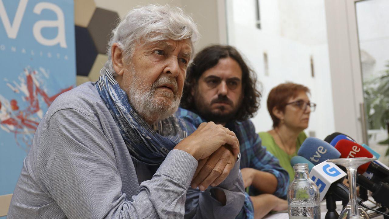Galicia acoge manifestaciones a favor y en contra de la consulta catalana.Francisco García, alcalde de Allariz