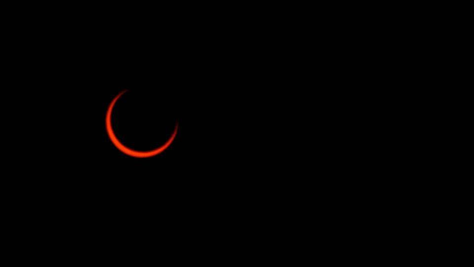 .Eclipse anular de sol del año 2005 visto desde Santiago