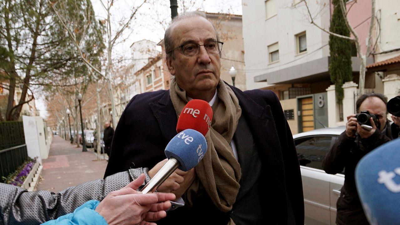 Francis Franco llegando hoy al juicio en Teruel