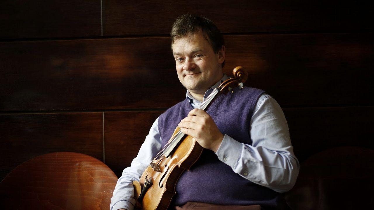 El violinista Frank Peter Zimmermann volvió a tocar como solista con la Sinfónica de Galicia