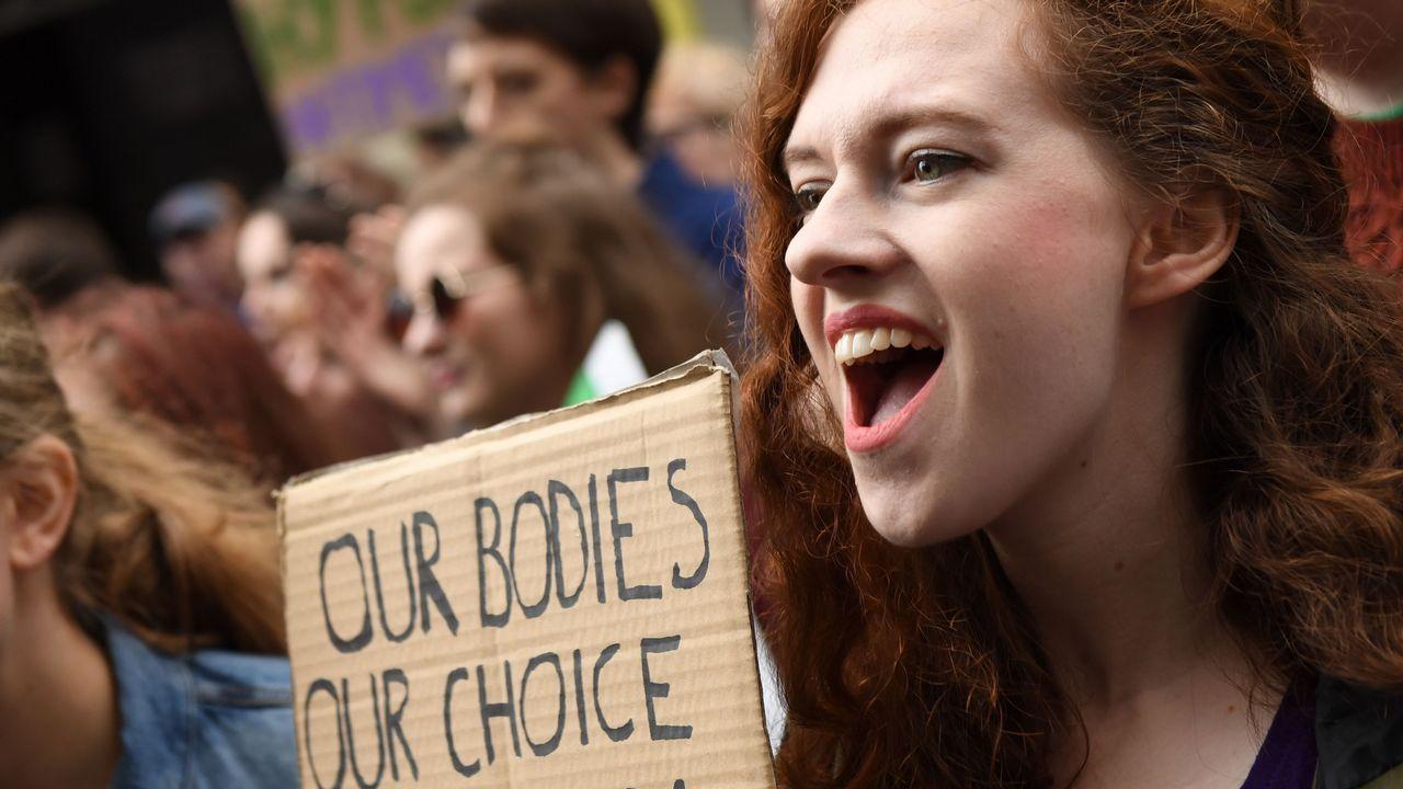 «Marcha por la elección», en Irlanda.La lactancia materna es una opción por la que se decantan cada vez más mujeres de la comarca