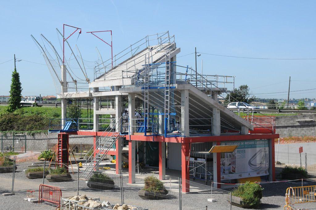 La sede de Duro Felguera.Simulador de riesgos laborales de la Fundación Laboral de la Construcción