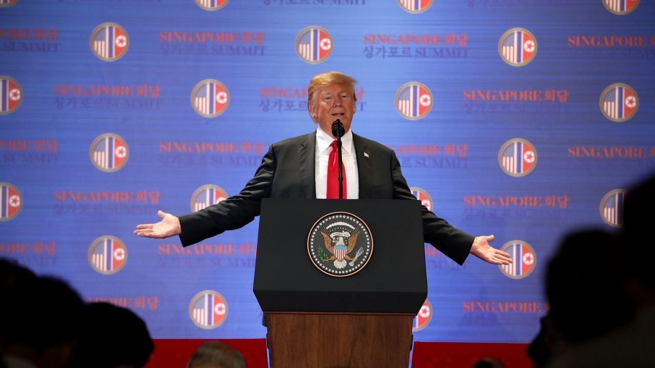Histórico encuentro entre Donald Trump y Kim JOng-un