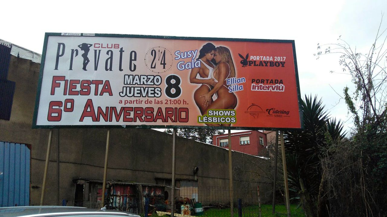 El cartel del club que anuncia una fiesta en el Día de la Mujer
