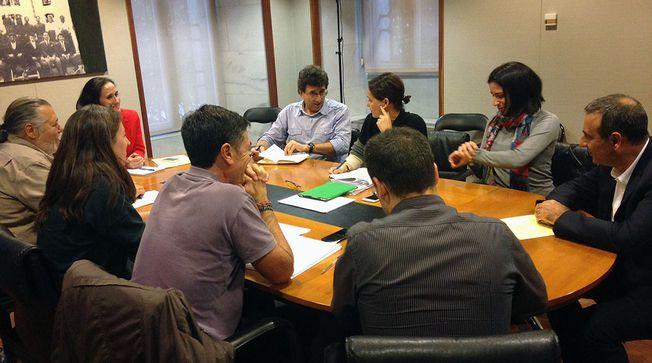 Reunión de la negociación presupuestaria entre Podemos y Psoe.