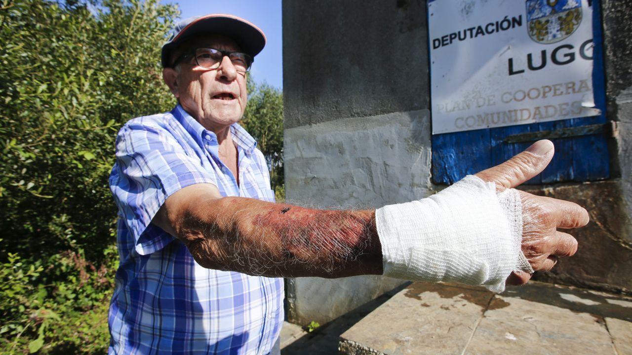 Le empuja por las escaleras de un depósito de agua de Friol, lo deja herido y se fuga con las llaves de las instalaciones