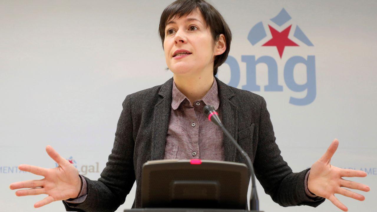 El debate sobre la desigualdad caldeó el Parlamento.La portavoz del BNG, Ana Pontón