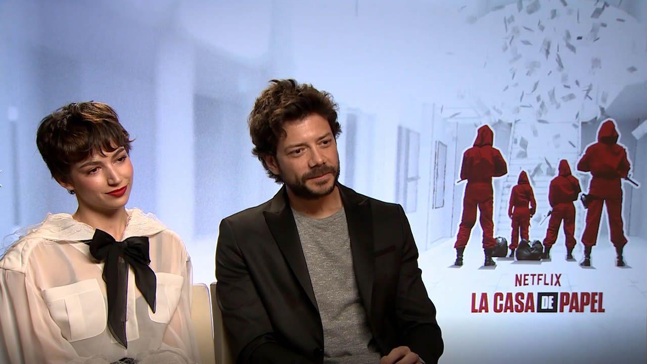 Morte y Corberó, «identificados» con los personajes de 'La Casa de Papel'.
