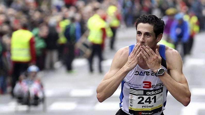 Pedro Nimo celebra su triunfo en San Sebastián