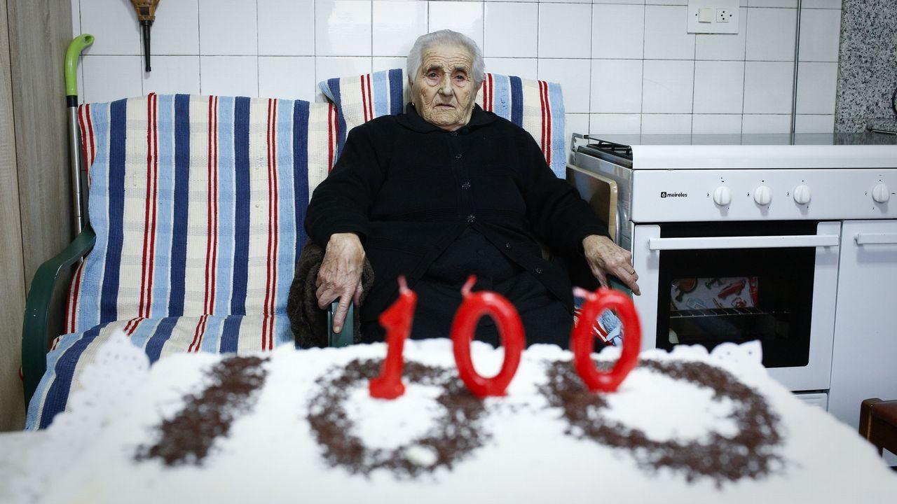Centenaria de A Lama, Grou (Lobios), Segunda Portela Rodríguez.Fran González, concursante de Pasapalabra