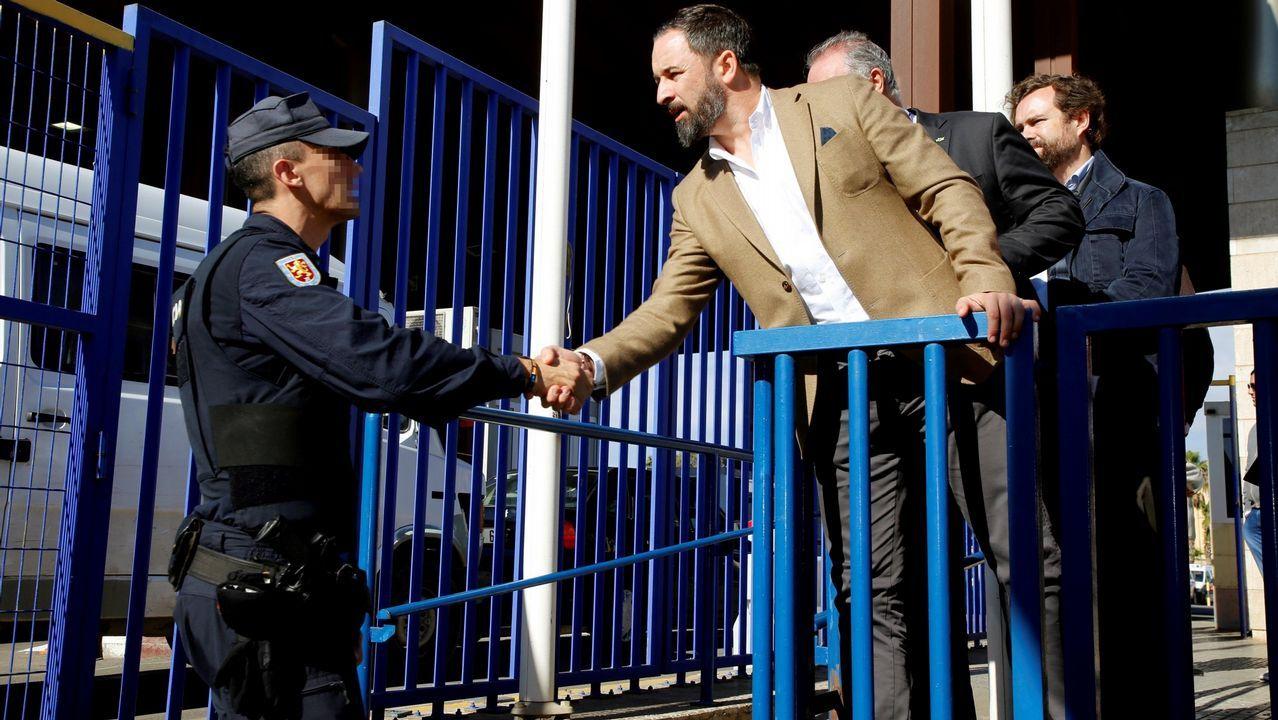 El presidente de VOX, Santiago Abascal, en la frontera de Melilla