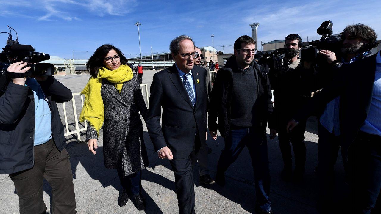 Torra, a la salida el pasado sabado de visitar a los presos en la cárcel de Soto del Real