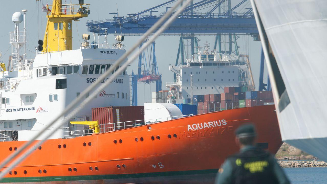 .Llegada del Aquarius al puerto de Valencia