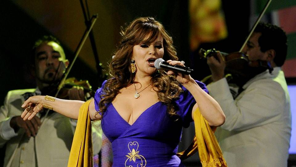 Jenni Rivera en un concierto en Las Vegas en 2010