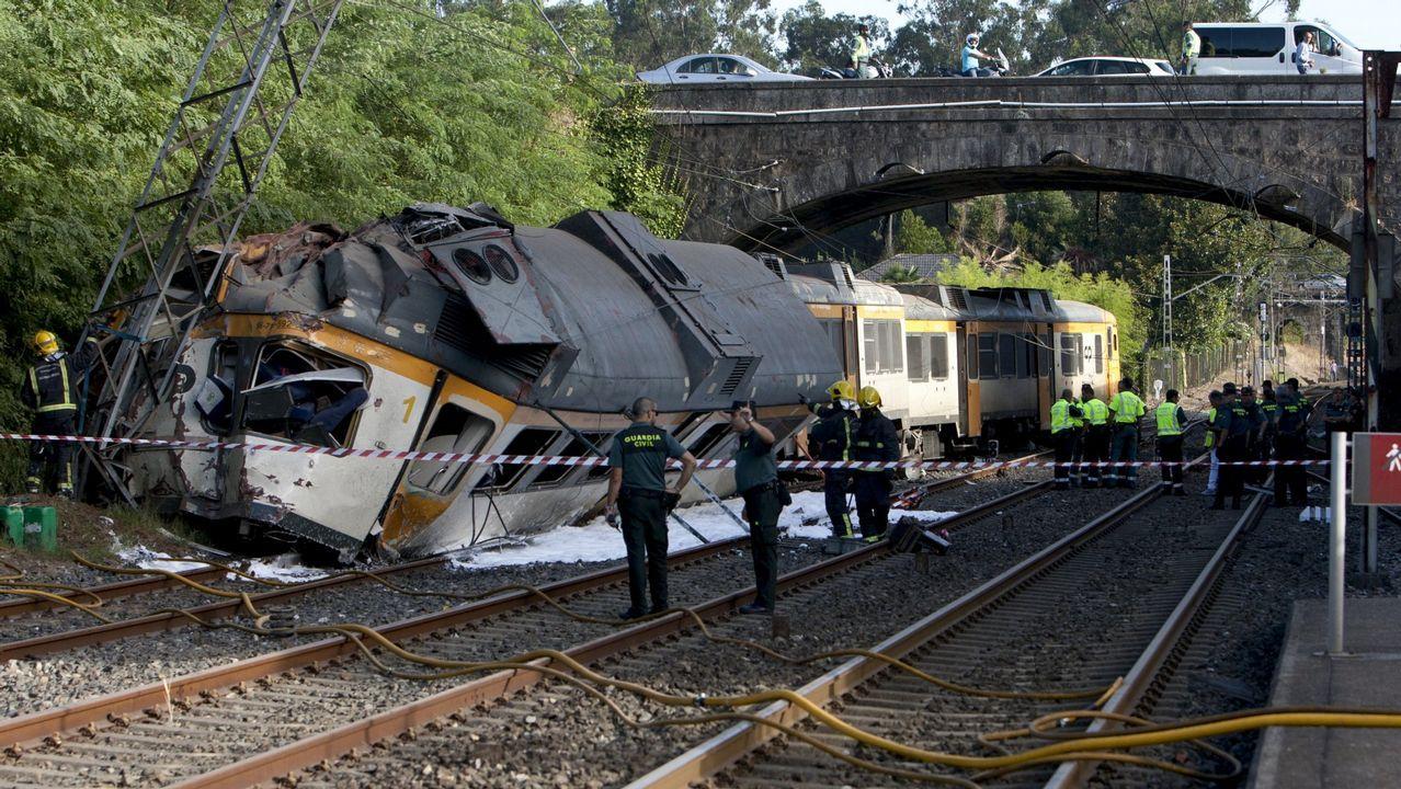 El accidente del tren Celta causó cuatro muertos y 47 heridos, 13 de ellos graves