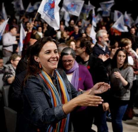 elecciones.La candidata Ana Miranda, al comienzo del mitin.