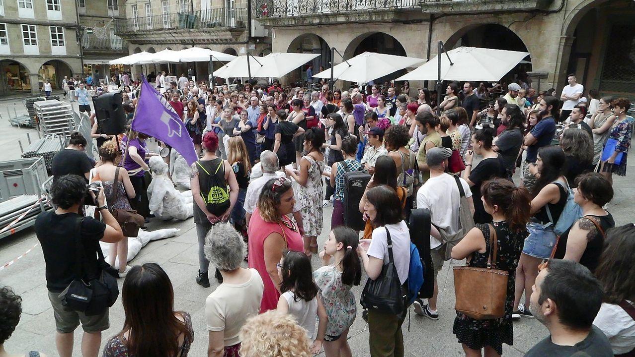 .Concentración en Ourense contra la libertad provisional de La Manada