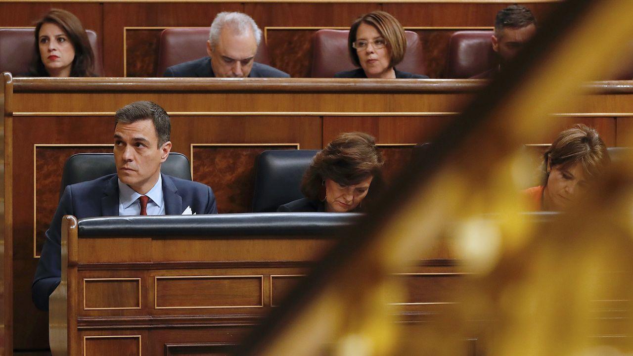 Pedro Sánchez, en la última sesión de control al Gobierno