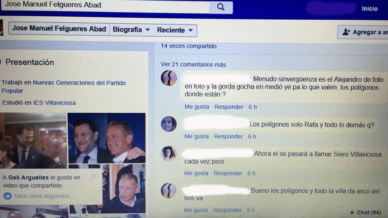 .El portavoz del PP de Villaviciosa tolera que en su Facebook se insulten a los políticos locales