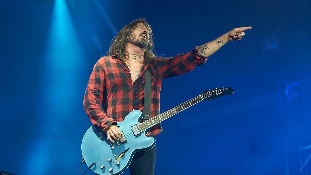 Dave Grohl, vocalista de Foo Fighters. El grupo está en el cartel de festivales como Firenze Rocks (Italia) y Pinkpop (Holanda)