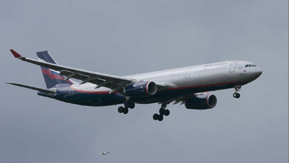 El avión en el que viajó Snowden.