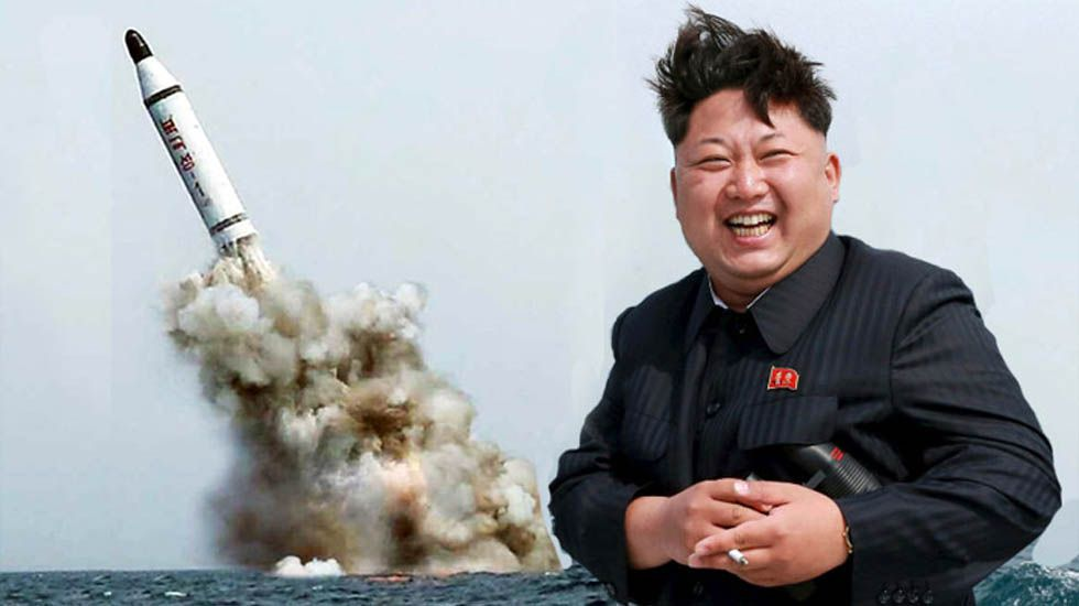 La bochornosa broma de Intereconomía sobre bombardear Barcelona.Bandera de Corea del Norte