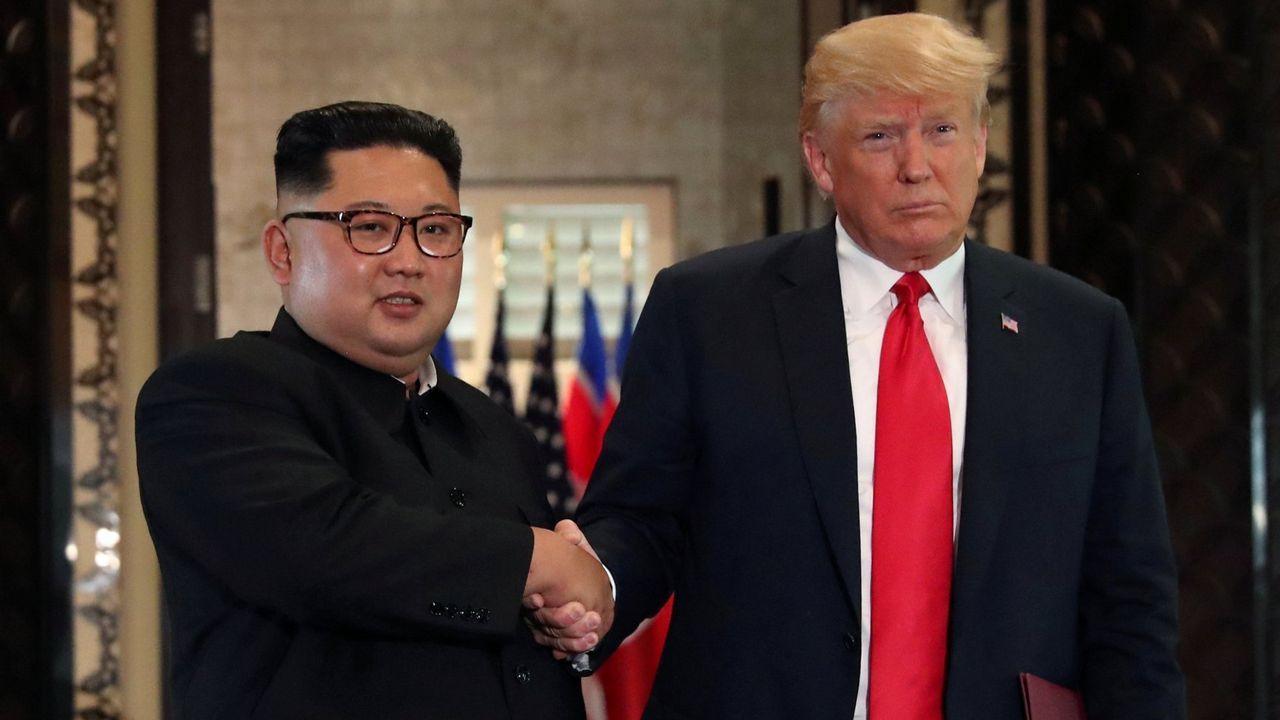 Imagen del encuentro en junio de Donald Trump y Kim Kim Jong-un