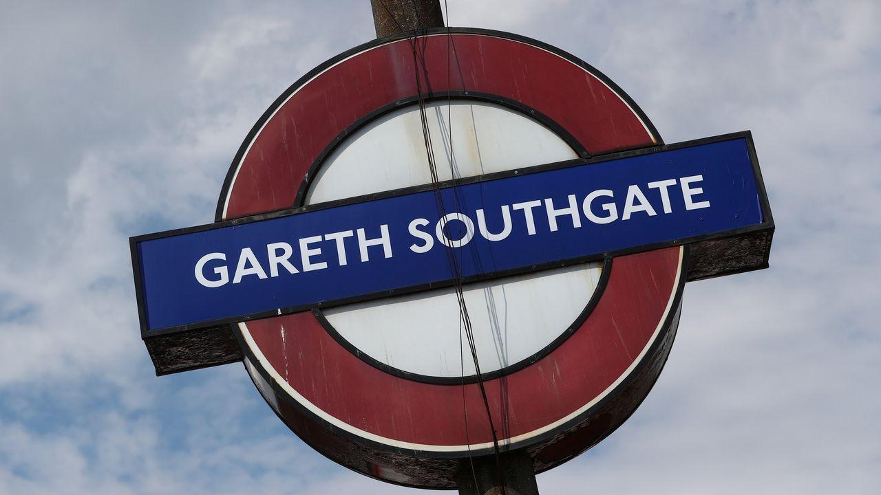 La estación de Southgate, en Londres, bautizada durante el último mes como el seleccionador de fútbol inglés