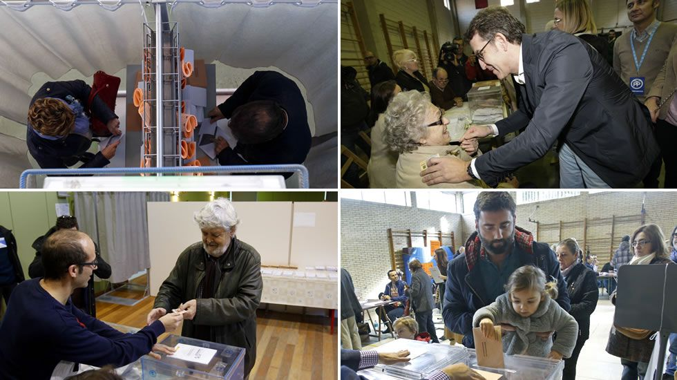 La jornada electoral en Galicia, en imágenes