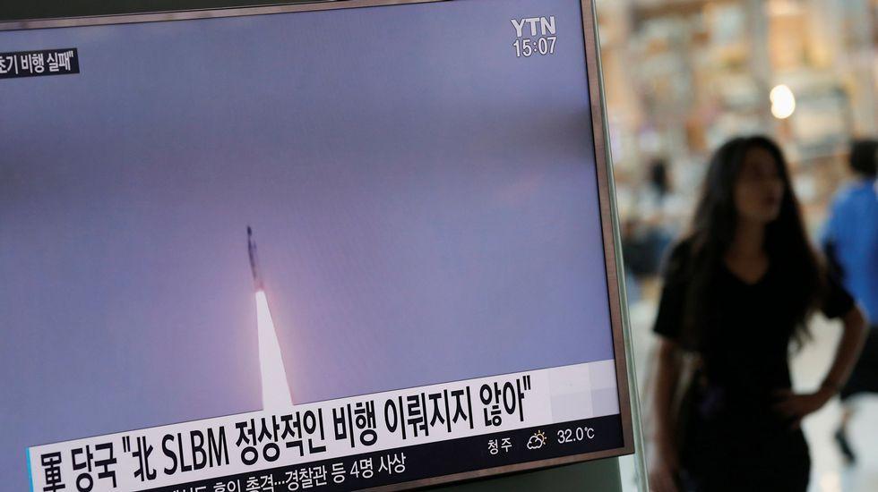 Una foto difundida por la agencia oficial de noticias de Corea del Norte