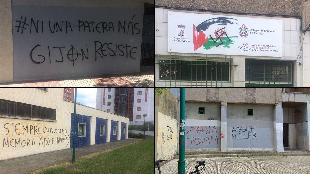 Pintadas fascistas en Gijón
